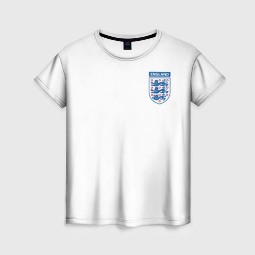 Женская футболка 3D Сборная Англия