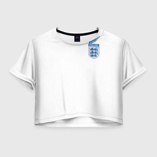 Женская футболка Crop-top 3D Сборная Англия