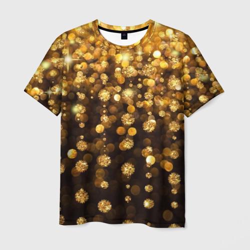 Мужская футболка 3D Золотой дождь
