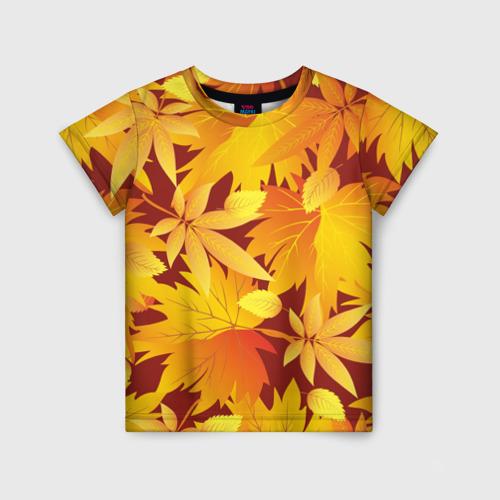 """Детская футболка 3D Камуфляж \""""Золотая осень\"""""""