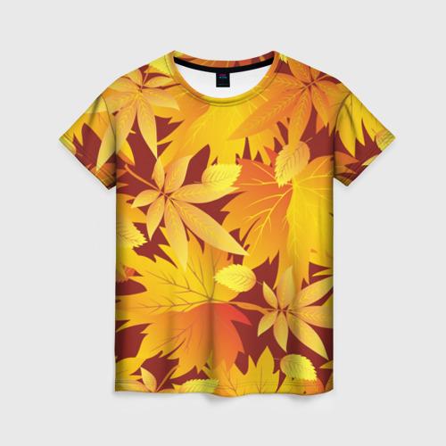 """Женская футболка 3D Камуфляж \""""Золотая осень\"""""""