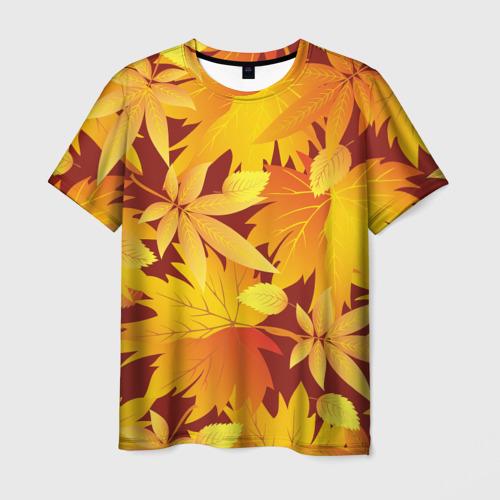 """Мужская футболка 3D Камуфляж \""""Золотая осень\"""""""