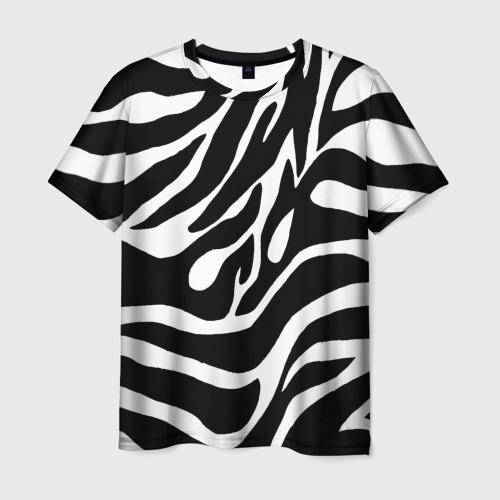 Мужская футболка 3D Зебра