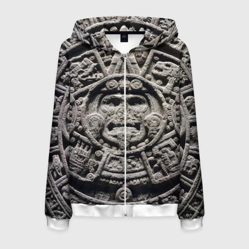 Мужская толстовка 3D на молнии Календарь ацтеков