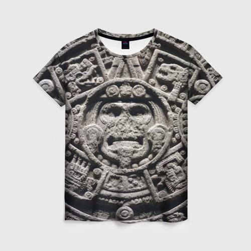 Женская футболка 3D Календарь ацтеков