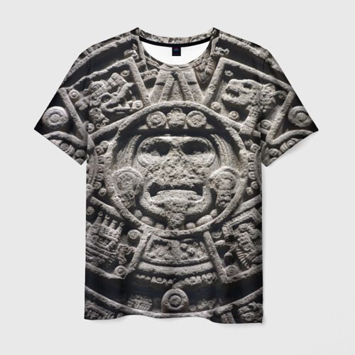 Мужская футболка 3D Календарь ацтеков