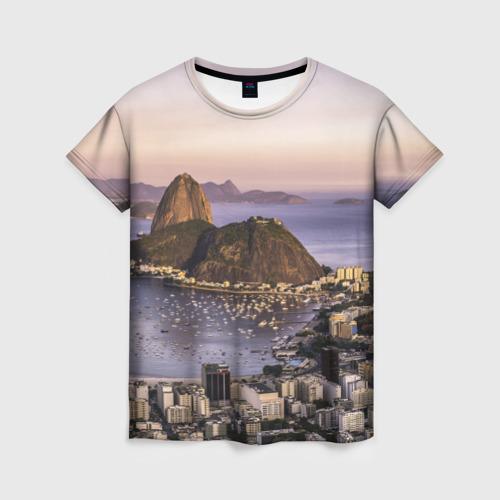 Женская футболка 3D Рио (Бразилия)
