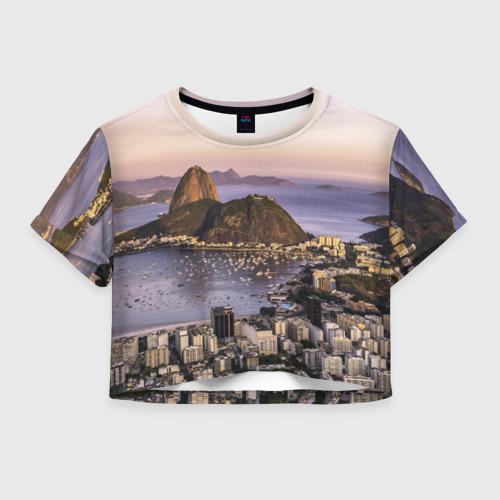 Женская футболка Crop-top 3D Рио (Бразилия)