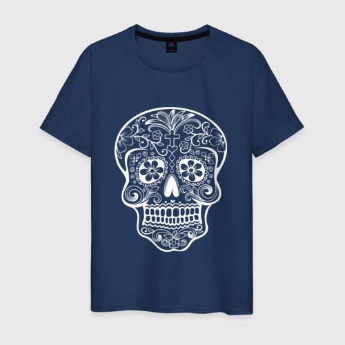 Мужская футболка хлопок Мексиканский череп