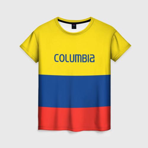 Женская футболка 3D Колумбия