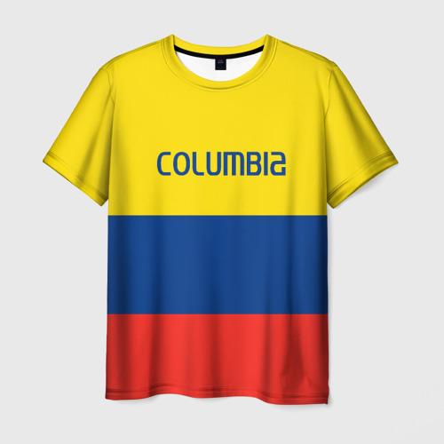 Мужская футболка 3D Колумбия
