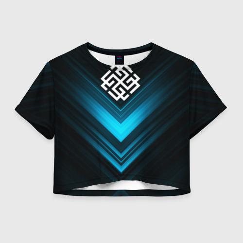 Женская футболка Crop-top 3D Ярга