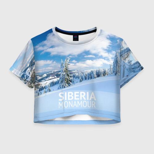 Женская футболка Crop-top 3D Сибирь