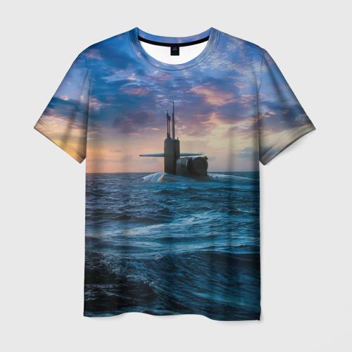 Мужская футболка 3D Подводная лодка