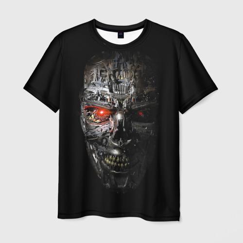 Мужская футболка 3D Терминатор (оружие)