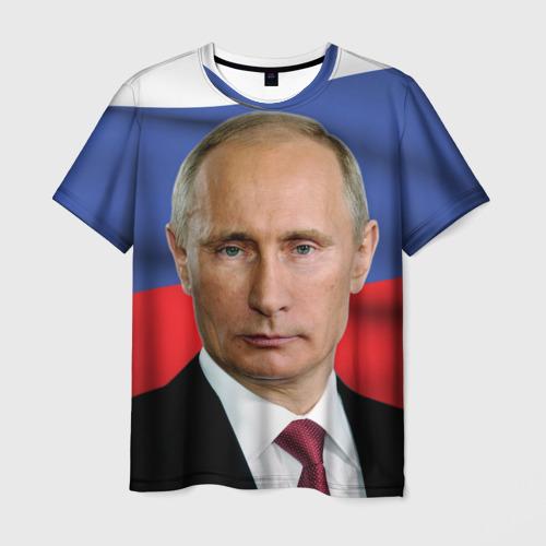 Мужская футболка 3D Путин Владимир Владимирович