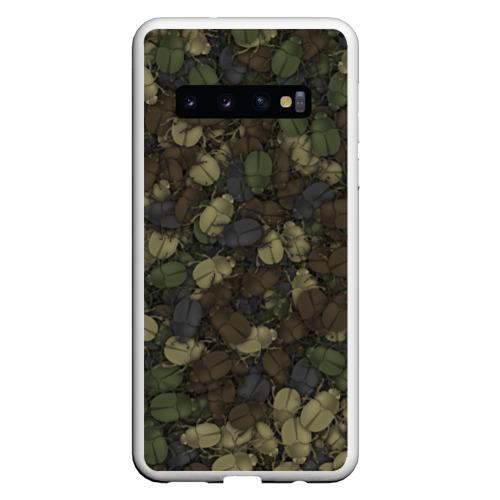 Чехол для Samsung Galaxy S10 Камуфляж с жуками