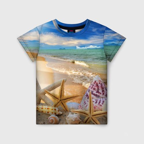 Детская футболка 3D Морской пляж 2