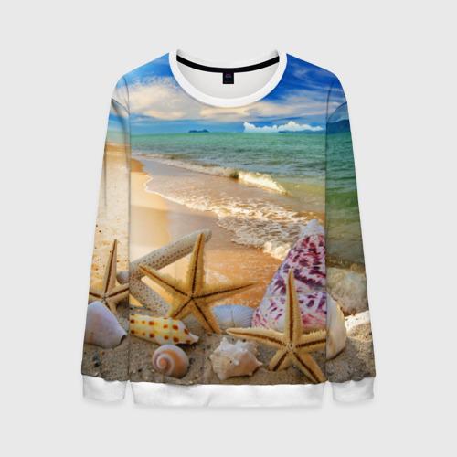 Мужской свитшот 3D Морской пляж 2