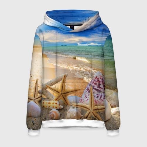 Мужская толстовка 3D Морской пляж 2