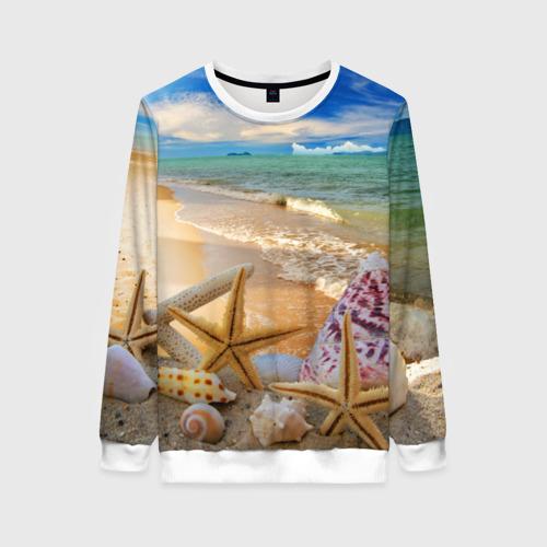 Женский свитшот 3D Морской пляж 2