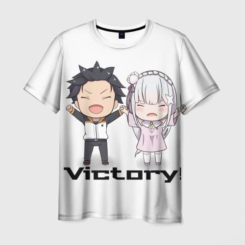 Мужская футболка 3D Re:ZERO VICTORY!