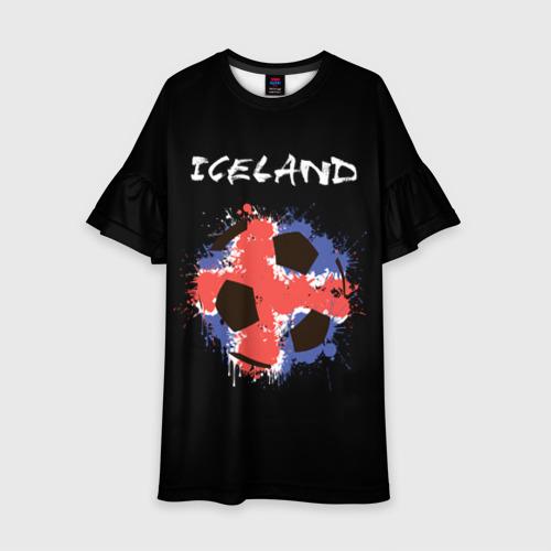 Детское платье 3D Исландия