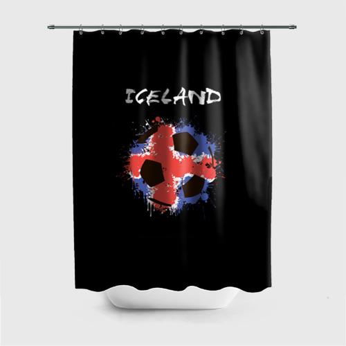 Штора 3D для ванной Исландия