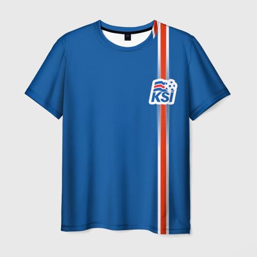 Мужская футболка 3D Форма сборной Исландии по футболу