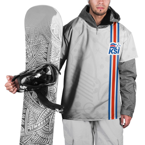 Накидка на куртку 3D Форма сборной Исландии по футболу