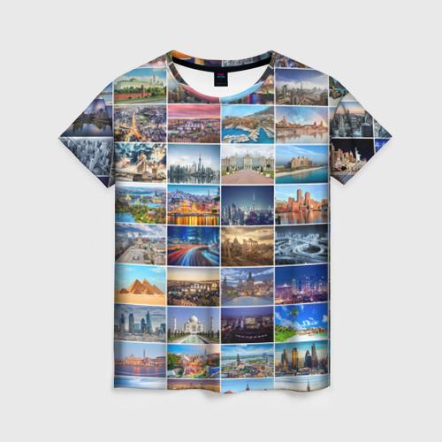 Женская футболка 3D Туризм (10х10)