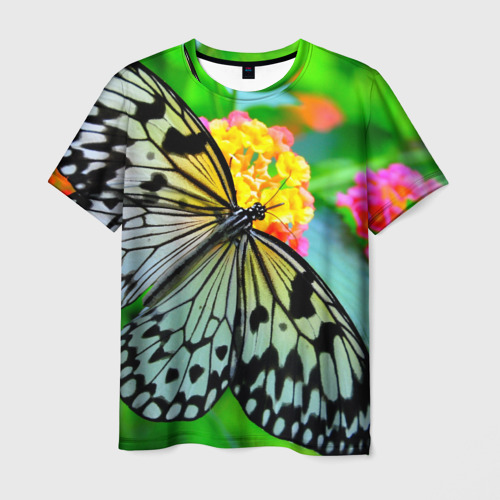 Мужская футболка 3D Бабочка