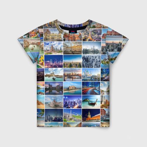 Детская футболка 3D Страны мира (9х9)