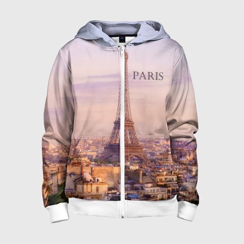 Детская толстовка 3D на молнии Париж