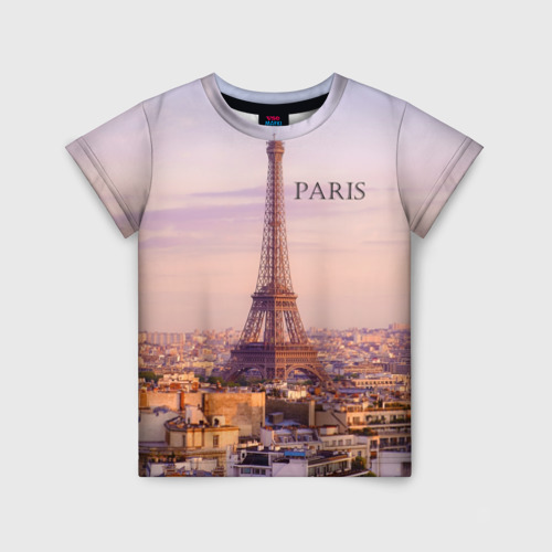 Детская футболка 3D Париж