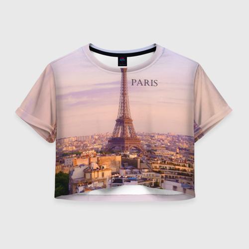 Женская футболка Crop-top 3D Париж