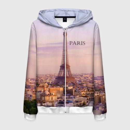 Мужская толстовка 3D на молнии Париж
