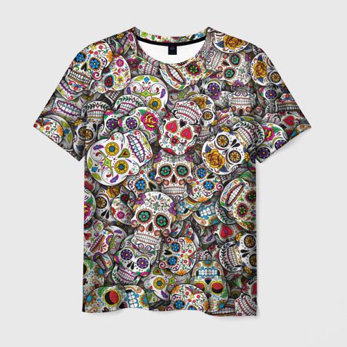 Мужская футболка 3D Мексиканские черепа