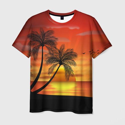 Мужская футболка 3D Закат 1