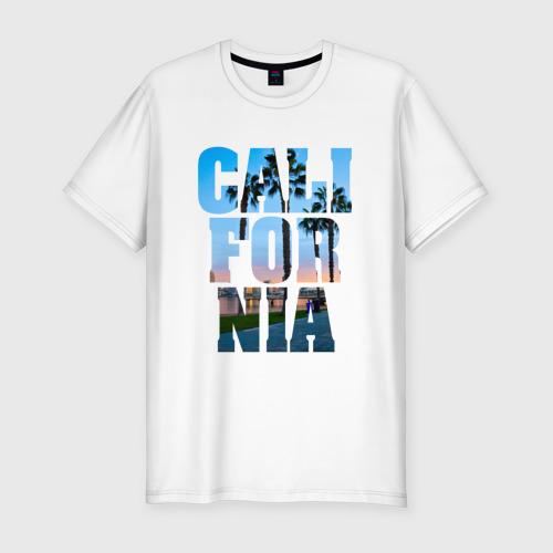 Мужская футболка хлопок Slim Калифорния 2
