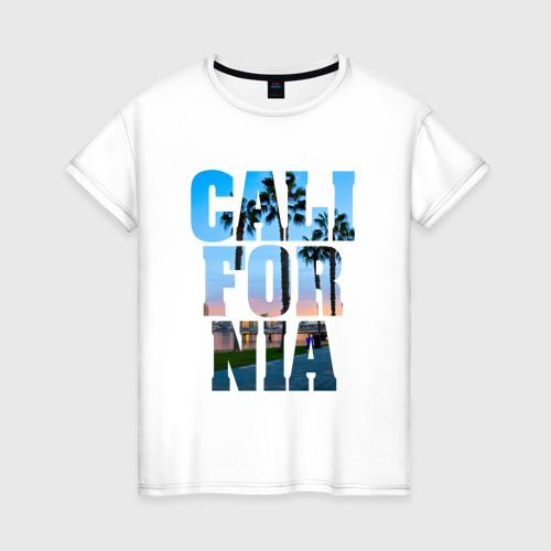 Женская футболка хлопок Калифорния 2