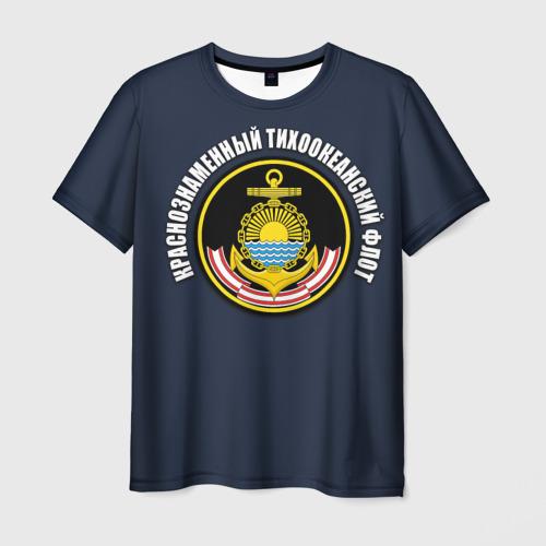 Мужская футболка 3D Краснознам тихоокеанский флот