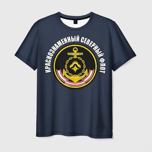 Мужская футболка 3D Краснознаменный северный флот