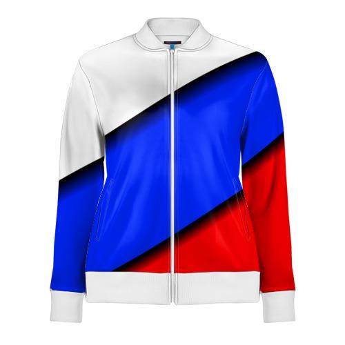 Женская олимпийка 3D Российский флаг