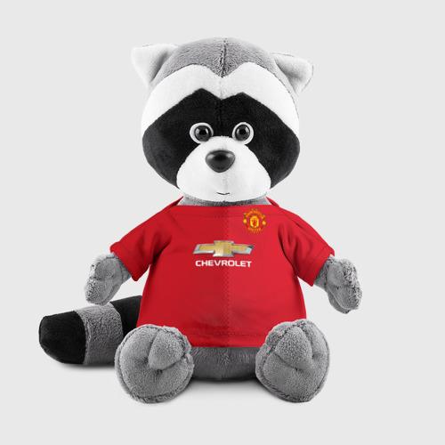 Игрушка Енотик в футболке 3D Манчестер Юнайтед форма