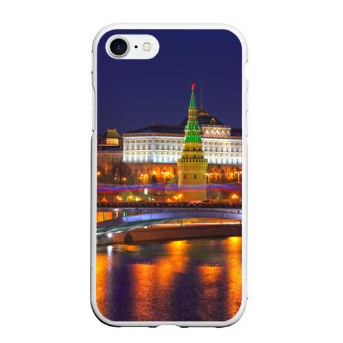 Чехол для iPhone 7/8 матовый Москва (Кремль)
