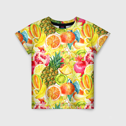 Детская футболка 3D Веселые фрукты 1