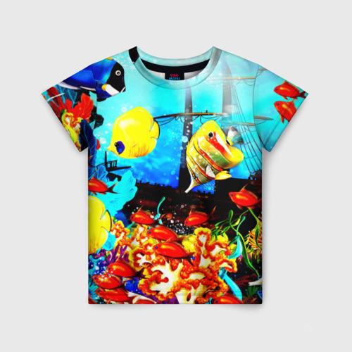 Детская футболка 3D Подводный мир