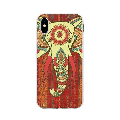 Чехол для iPhone X матовый Индия 4