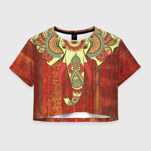 Женская футболка Crop-top 3D Индия 4